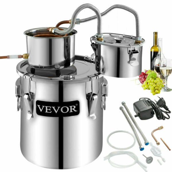 5Gal 20L Alcohol Distiller Brewing Kit Moonshine Still Copper Wine Boiler Home $103.98