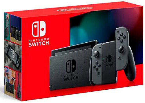 New! Nintendo Switch HAC-001(-01) V2 Bigger Battery Version! 32GB Gray Joy-cons