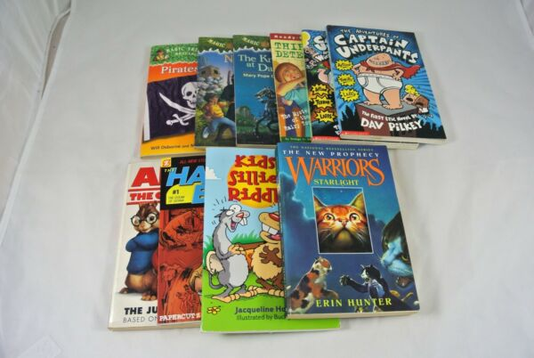 Lot of 10 Children's Kids Books Library Unsorted Bundle Tree House Underpants