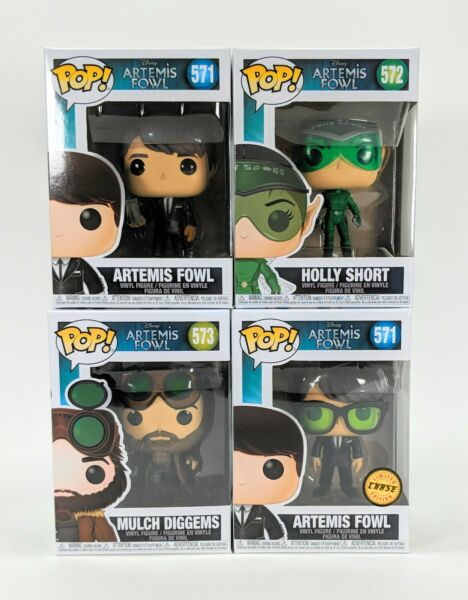 Funko Pop Atremis Fowl Vinyl Figure Complete Set with Chase in PET Protectors $59.99