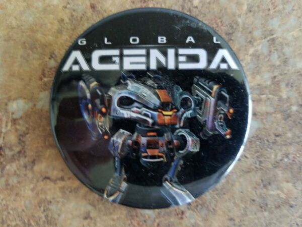 E3 2010 Global Agenda Gaming Button New Must See