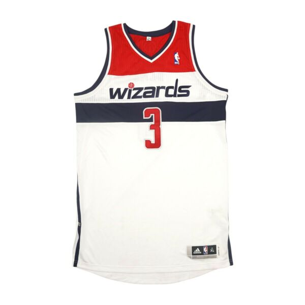 Bradley Beal Adidas Washington Wizards Authentic On-Court Rev 30 Home Jersey XL