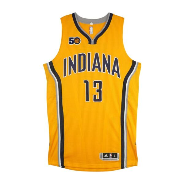 2016-17 Paul George Adidas Indians Pacers Authentic 50th Pro Cut Jersey Large