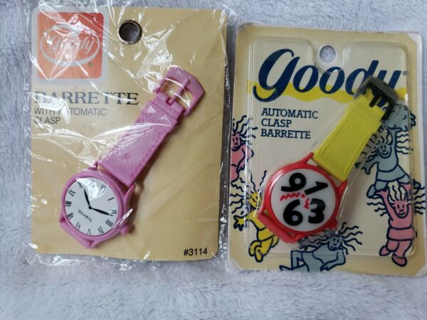 2 198789 Goody Barrette Watch Automatic Clasp Self adjusting any amount hair $11.39