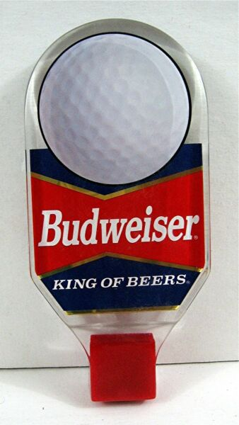 Old Budweiser King Of Beers Golf Ball Sports Tap Knob Handle An Busch St Louis