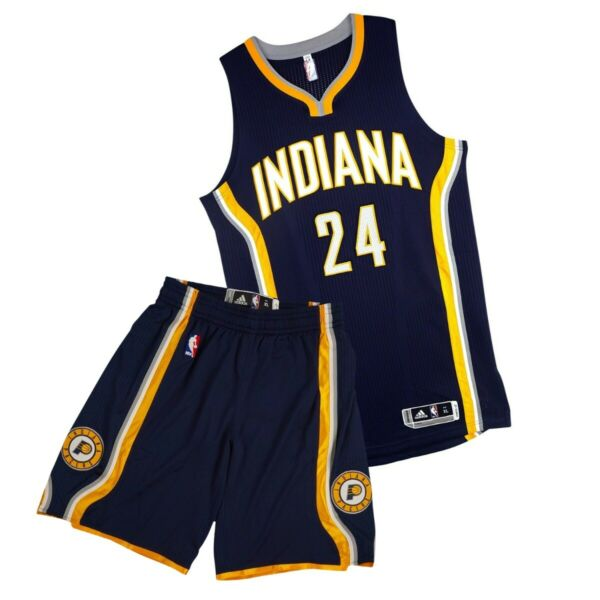 Paul George Adidas Indiana Pacers Authentic Road On-Court Rev Jersey