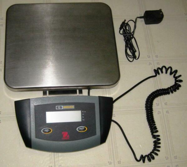 Ohaus ES30R Low Profile Stainless Steel Bench Shipping Scale66 lbs 0.05 lbs
