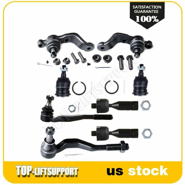 8x Fit For 1995 04 Toyota Tacoma Front Ball Joints Tie Rod Ends Steering Kit