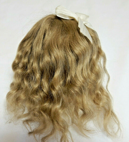 HANDMADE DOLL'S WIG BY WENDY FEIDT MOHAIR SIGNED & DATED 2006 US MADE QUALITY