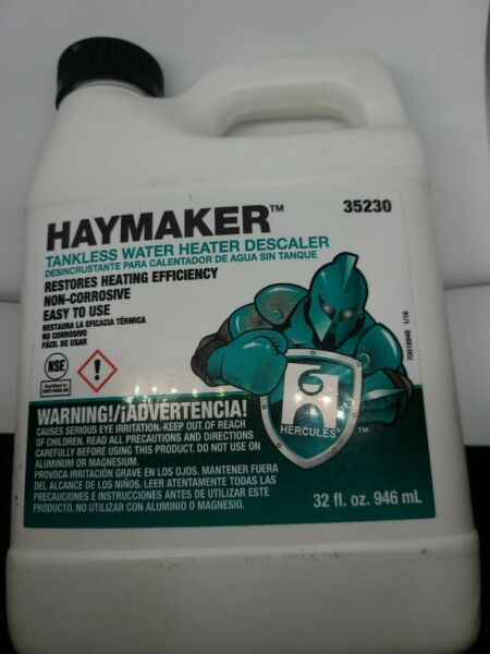 HAYMAKER TANKLESS WATER HEATER DESCALER NON-CORROSIVE SHIPS FREE