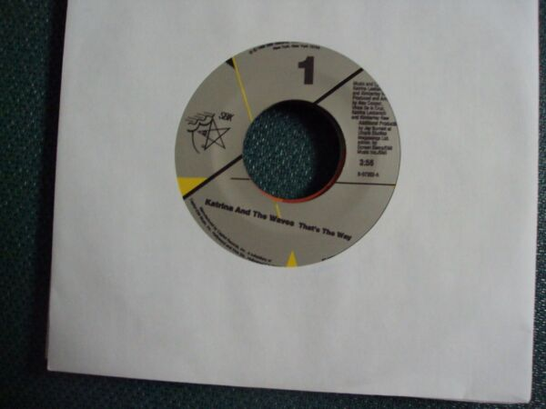 KATRINA amp; THE WAVES Thats The Way Love Calculator 7quot; 45 late 80s pop rock