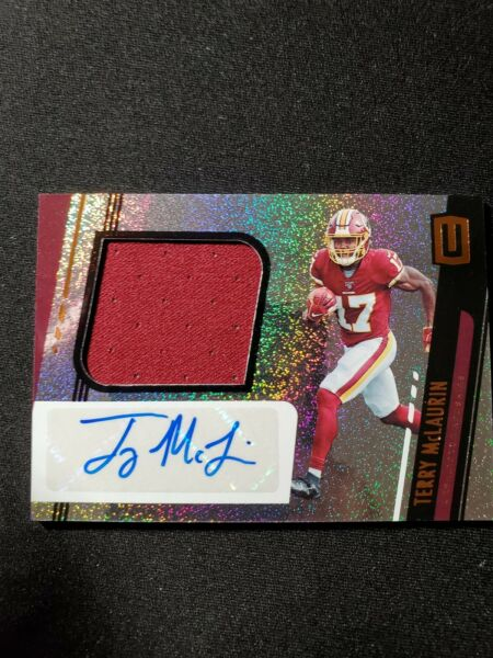 2019 UNPARALLELED TERRY McLAURIN PATCH  AUTO REDSKINS No. 333 $5.50