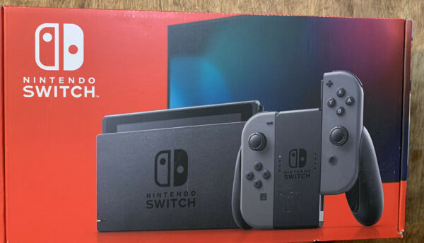 Nintendo Switch HAC-001(-01) 32GB Console with Gray Joy‑Con Brand New Sealed