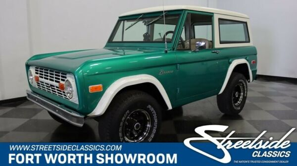 1972 Ford Bronco  302 V8 3 On The Tree Manual Trans Great Colors Ready for Anything! Cool 4X4!
