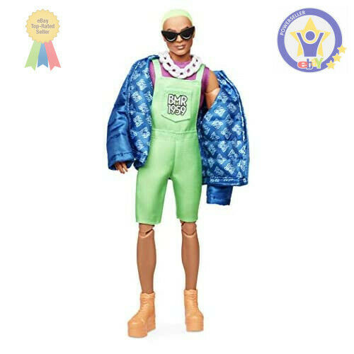 Barbie BMR1959 Ken Fully Poseable Fashion Doll with Neon Hair in Neon...