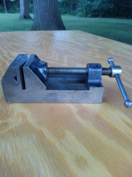 Millers Falls Machinist Vise 217 Drill Press Vise Swivel Jaw Option Old Vice
