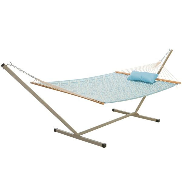 Castaway Hammocks Large Quilted Hammock with 12 Foot Hammock Stand amp; Pillow $159.99