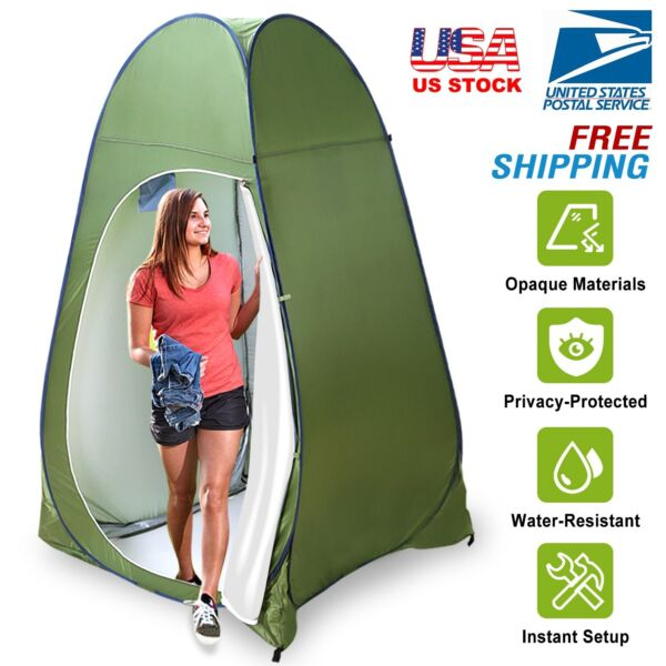 Outdoor Pop Up Tent Camping Shower Toilet Changing Room Privacy Shelter Portable $36.99
