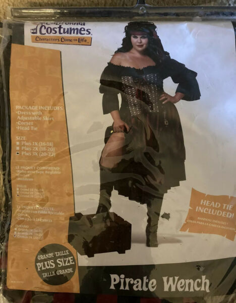 CALIFORNIA COSTUMES PIRATE WENCH ADULT COSTUME SIZE 3X NEW $39.99