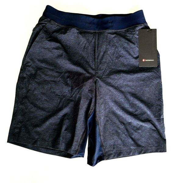 Lululemon Mens THE Short 9quot; Size XL Lined Navy HTPV NEW WITH TAGS