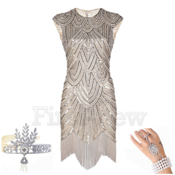 1920#x27;s Flapper Dress Great Gatsby Party Prom Gown Womens Sequins Evening Dresses $16.19