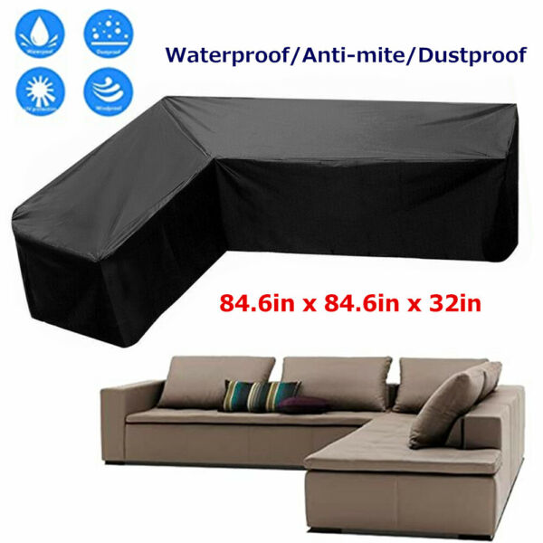 Outdoor Patio Furniture Cover L Shaped Sectional Sofa Cover Waterproof Dustproof