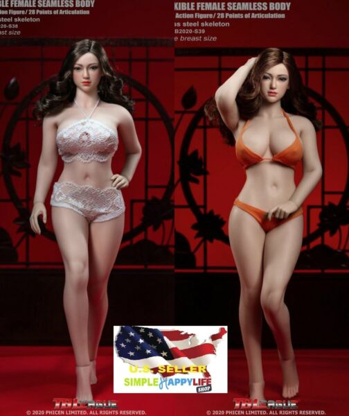 PHICEN 16 Steel Skeleton Female Plus SIZE SEAMLESS FIGURE W HEAD S38 S39 ❶USA❶
