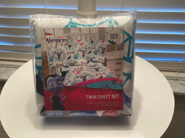 Jay Franco Disney Vampirina Twin Sheet Set - Super Soft and Cozy Kid's Beddin...