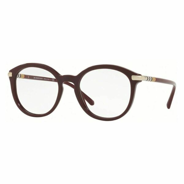 New Authentic Burberry Women#x27;s Eyeglasses Burgundy Gold W Demo Lens BE2264 3687 $106.02