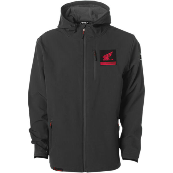Factory Effex Honda Track Jacket Charcoal Gray L