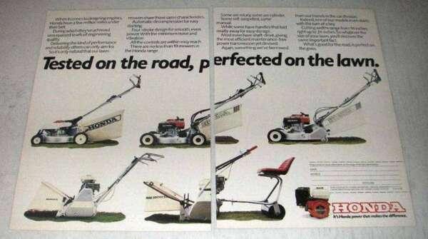 1984 Honda Lawn Mowers Ad Tested on the Road