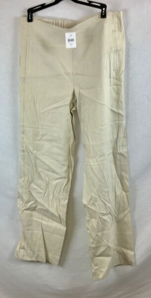 NEW J Jill Sea Salt Easy Linen Stretch Flat Front Pants Size 10 $19.95