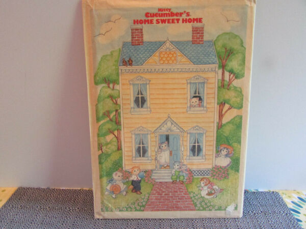 1990 B. SHACKMAN & CO.PAPER DOLL CUTOUTS KITTY CUCUMBER'S HOME SWEET HOME NEW