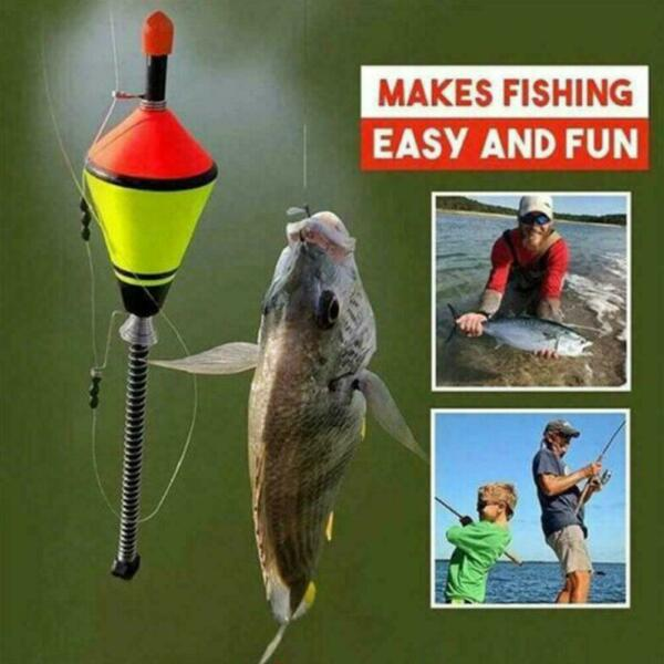 Automatic Fishing Bobbers Float Bite Fishing Tackle Steel Hook Stainless E5S8 $4.47