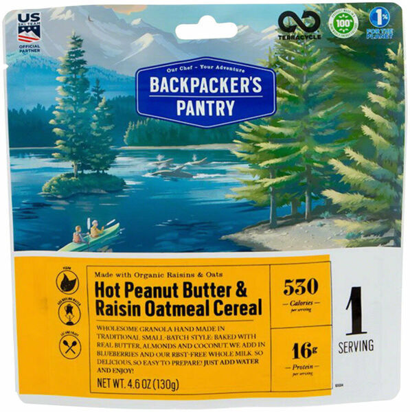 Backpacker#x27;s Pantry Organic Peanut Butter Raisin Oatmeal Hot Cereal: 1 Serving