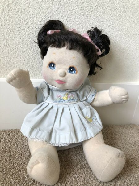 Vintage 80's My Child Doll Excellent condition! Brunette Brown Hair Blue  Eyes