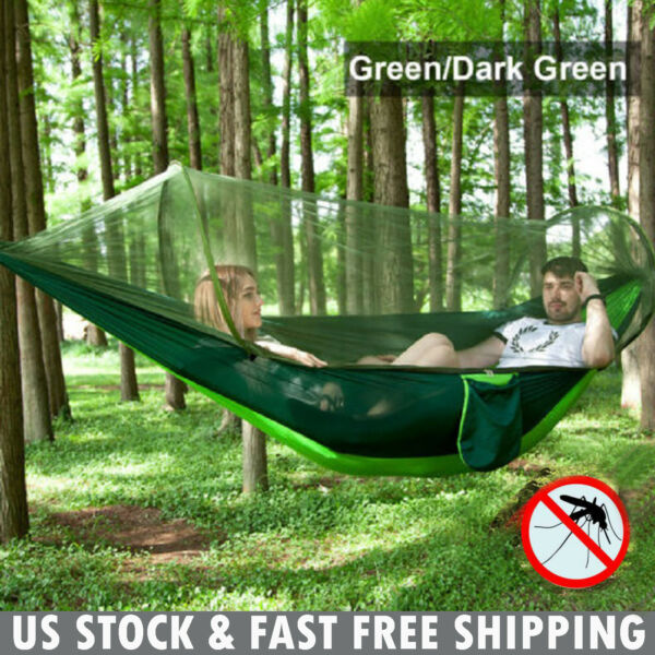 Double Person Camping Tent Hanging Hammock Bed with Mosquito Net Portable Set $22.79