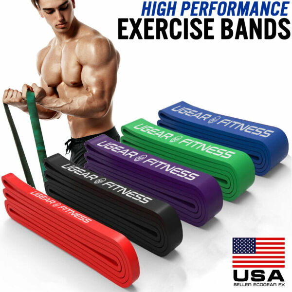 Heavy Duty Exercise Bands Latex Resistance Fitness GYM Powerlifting Assist Band $7.99