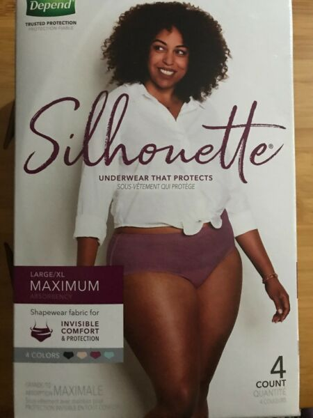 New Depend Silhouette under for women $12.99