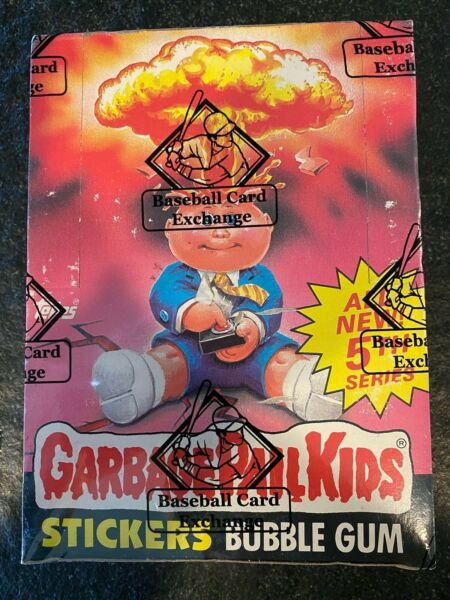 1986 Topps Garbage Pail Kids 5th Series Box W 48 Packs Poster BBCE Authentic