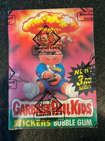 1986 Topps Garbage Pail Kids 3rd Series Box W 48 Packs w25c BBCE Authentic