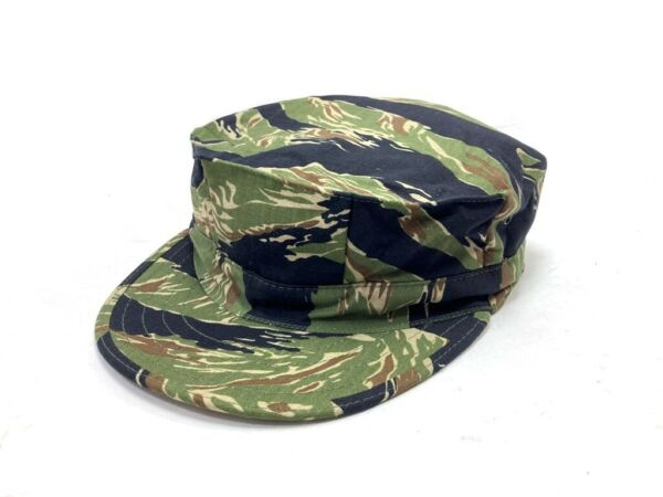 TIGER STRIPE CAMO COVER 8 POINT USN USMC STYLE Ripstop Size 7 1 4 Medium $19.50