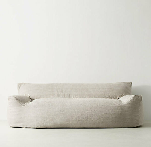 Restoration Hardware Berlin Lounge Linen Sofa $400.00