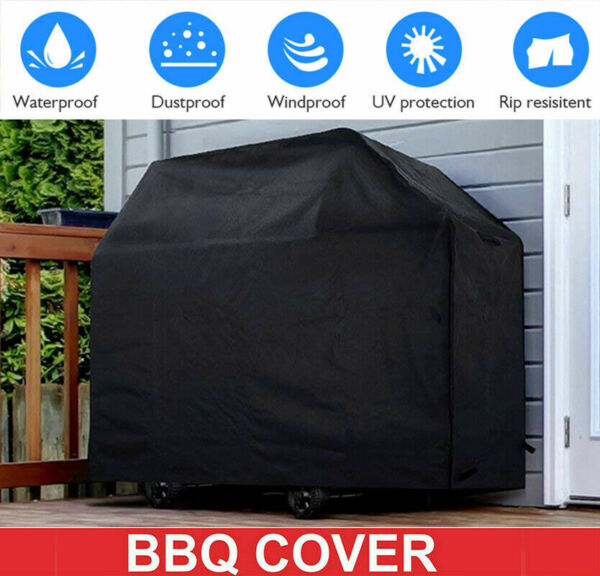 BBQ Grill Cover 57 Inch Gas Barbecue Heavy UV Duty Protection Waterproof Outdoor