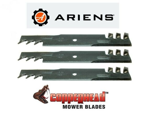 3 USA BLADES Mulching Fits Ariens Ikon Mower 52 XD with 52 inch Deck