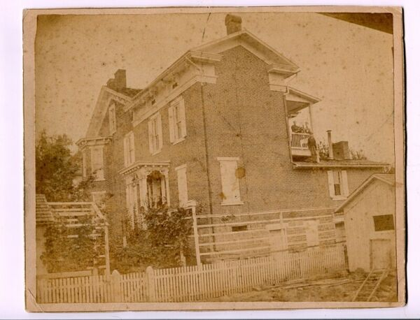 Large c1880 Mounted Photo of Historic Major Jared Fisher House Penn Hall PA $35.00