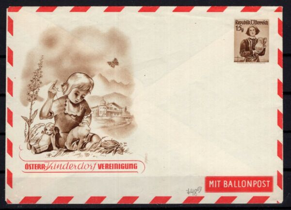 P136515 AUSTRIA STATIONARY FOR BALLOON MINT $22.99