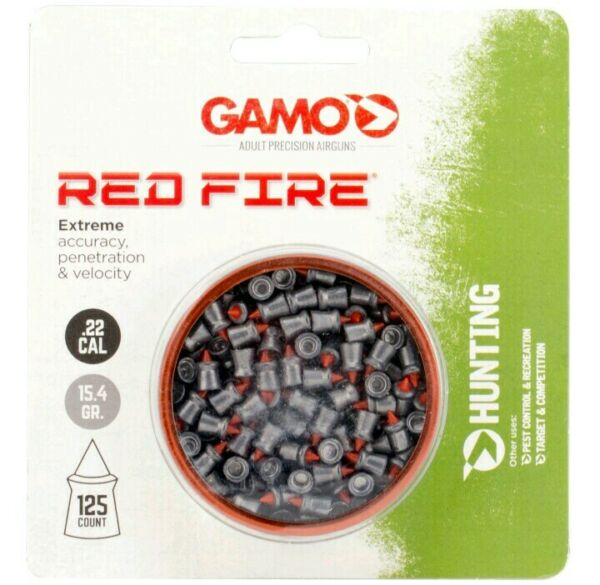 Gamo .22 Cal 15.4gr. 125ct RED FIRE Extreme Accuracy Penetration Pellet Ammo $13.99