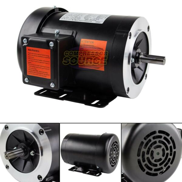 1.5 HP Electric Motor 3 Phase 56C Frame 3600 RPM TEFC 230 460 Volt New $209.95