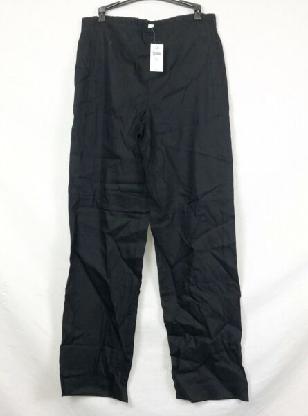 NEW J. Jill Black Easy Linen Stretch Flat Front Pants Size 10T $19.95